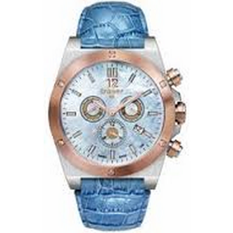 Traser Lady Blue Chrono Leather Watch